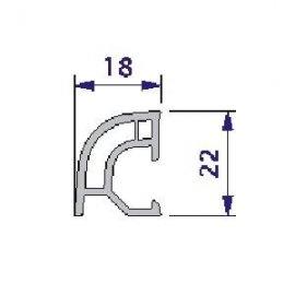 Esquinero 18x22 en PVC