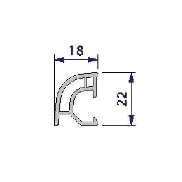 Remate curvo 18x22 en PVC