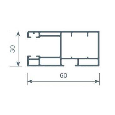 Guía PVC 60x30mm.
