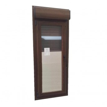 Puerta PVC 1 hoja abatible con persiana