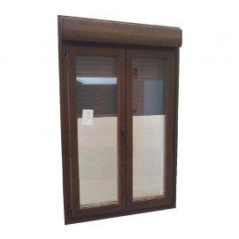 Puerta PVC 2 hojas abatible con persiana