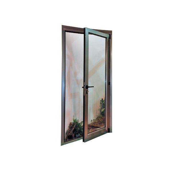 Puerta aluminio rpt 1 hoja oscilobatiente for Puerta oscilobatiente