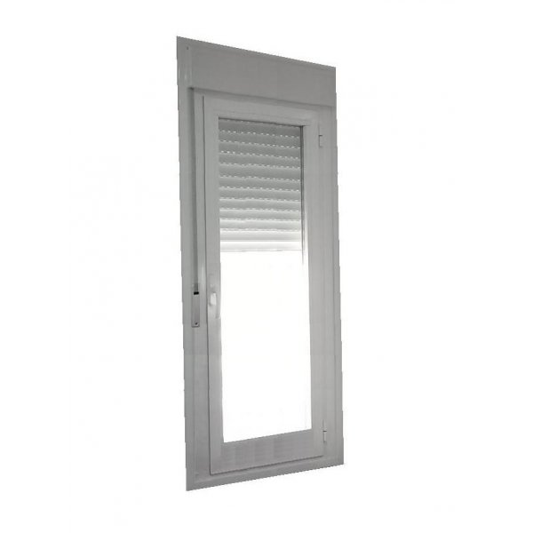 Puerta aluminio rpt 1 hoja oscilobatiente con persiana for Puerta oscilobatiente