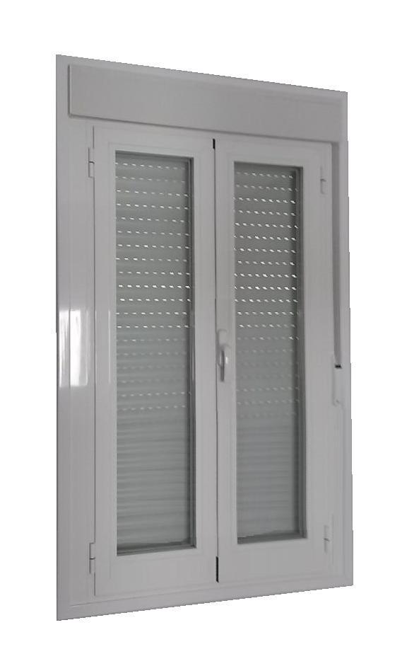 Puerta aluminio rpt 2 hojas oscilobatiente con persiana for Puerta oscilobatiente