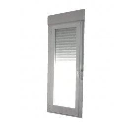 Puerta aluminio 1 hoja oscilobatiente con persiana