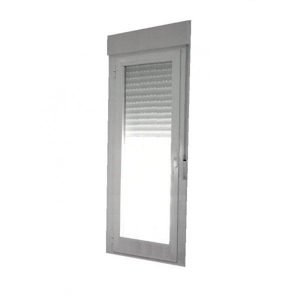Puerta aluminio 1 hoja oscilobatiente con persiana for Puerta oscilobatiente