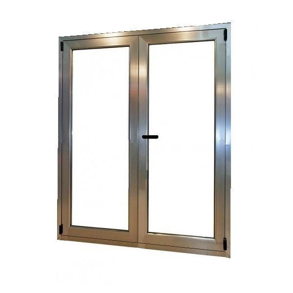 Puerta aluminio rpt 2 hojas oscilobatiente for Puerta oscilobatiente