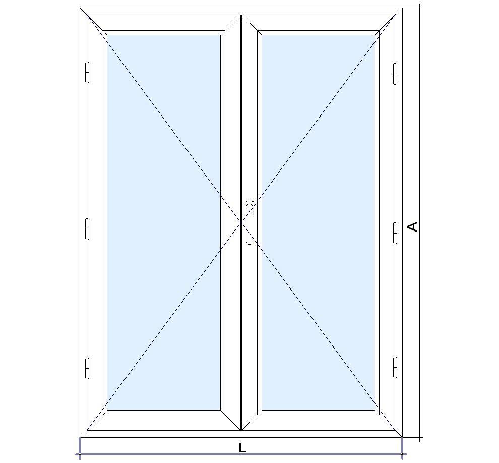 Puerta aluminio 2 hojas oscilobatiente for Puertas oscilobatientes
