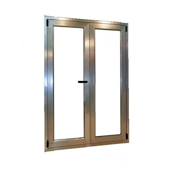 puerta aluminio 2 hojas oscilobatiente