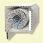 Puerta aluminio RPT oscilob. 2 hojas con persiana