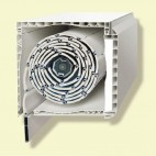 Puerta aluminio oscilob. 1 hoja con persiana