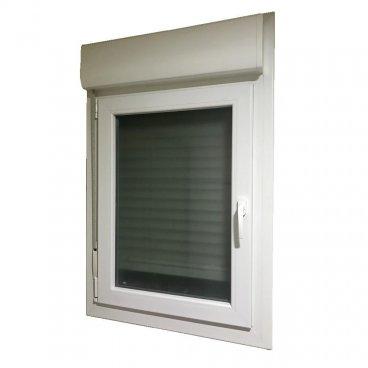 Ventana PVC 1 hoja oscilobatiente con persiana