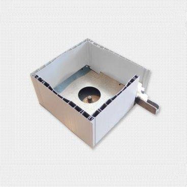 Cajón PVC 185mm. cuadrado