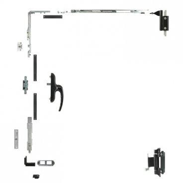 Kit oscilobatiente 1 hoja para ventanas de aluminio