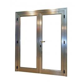 Puerta aluminio RPT 2 hojas abatible