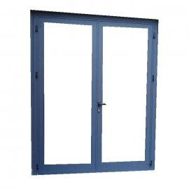 Puerta aluminio 2 hojas abatible