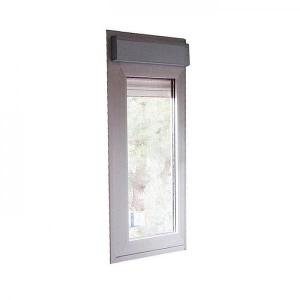 Ventana aluminio fija con persiana for Precio ventanas aluminio climalit persiana