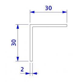 Angulo 30x30 en PVC