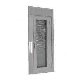 Ventana aluminio oscilobatiente 1 hoja con persiana