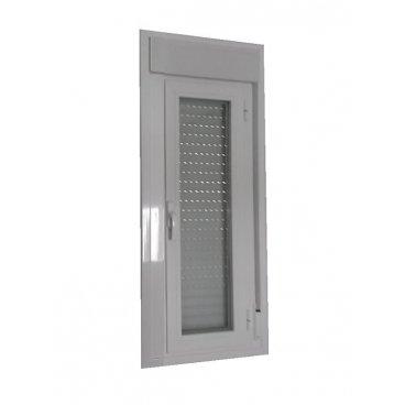 Ventana aluminio 1 hoja abatible con persiana