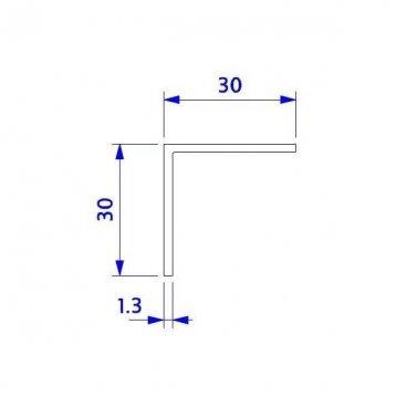 Angulo 30x30 en aluminio