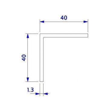 Angulo 40x40 en aluminio
