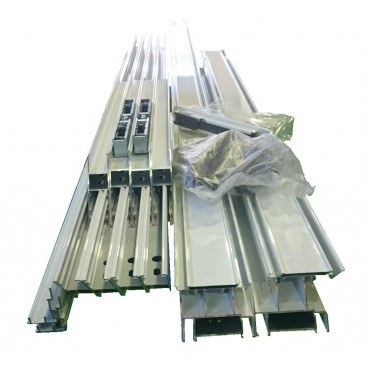 Ventana aluminio 2 hojas corredera kit sin ensamblar