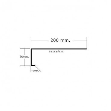 Vierteaguas 200mm. Mod.2